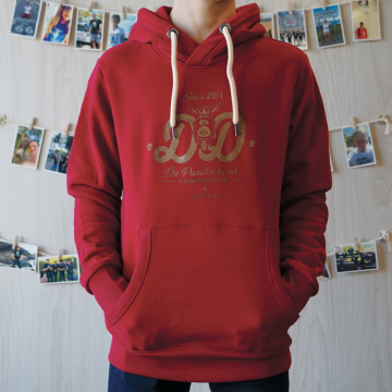 sweat capuche rouge